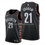 Maillot Brooklyn Nets Treveon Graham Ville Edition Noir