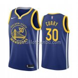 Maillot Golden State Warriors Stephen Curry Icon 2019-20 Bleu