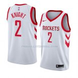 Maillot Houston Rockets Brandon Knight Association 2018 Blanc
