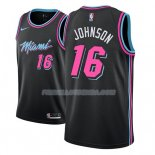 Maillot Miami Heat James Johnson Ciudad 2018-19 Noir