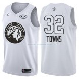 Maillot All Star 2018 Minnesota Timberwolves Karl-anthony Towns 32 Blanc