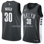 Maillot Brooklyn Nets Dzanan Musa Black Statement 2018 Noir Noir