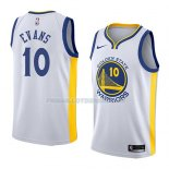 Maillot Golden State Warriors Jacob Evans Association 2018-19 Blanc