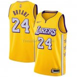 Maillot Los Angeles Lakers Kobe Bryant No 24 Ville 2019-20 Jaune