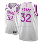 Maillot Minnesota Timberwolves Karl Anthony Towns Earned 2018-19 Gris
