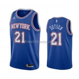 Maillot New York Knicks Damyean Dotson Statement 2020-21 Bleu