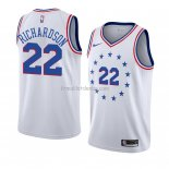 Maillot Philadelphia 76ers Malachi Richardson Earned 2018-19 Blanc