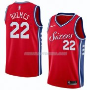 Maillot Philadelphia 76ers Richaun Holmes Statement 2018 Rouge Rouge