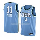 Maillot 2019 Rising Star Trae Young USA Bleu