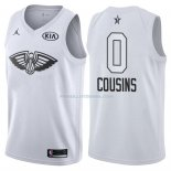 Maillot All Star 2018 New Orleans Pelicans Demarcus Cousins 0 Blanc