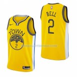 Maillot Golden State Warriors Jordan Bell Earned 2018-19 Jaune