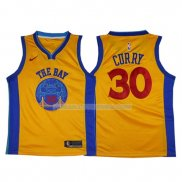 Maillot Basket Golden State Warriors Stephen Curry 2017-18 30 Jaune