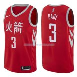 Maillot Houston Rockets Chris Paul Ciudad 2017-18 3 Rojo