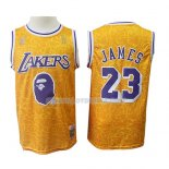 Maillot Los Angeles Lakers Lebron James Mitchell & Ness Jaune