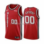 Maillot Portland Trail Blazers Carmelo Anthony Classic Edition Rouge