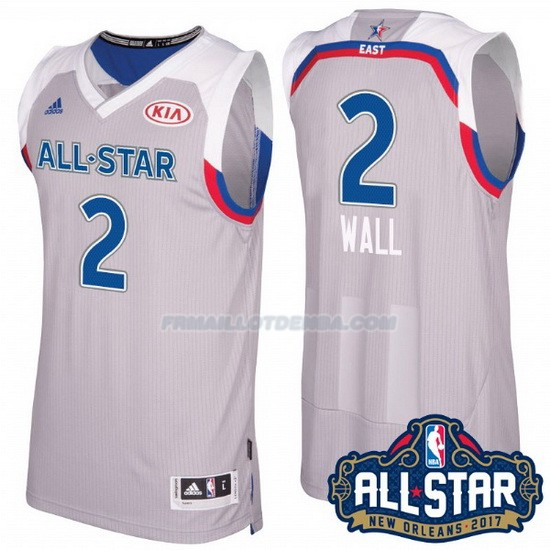 Maillot Basket All Star 2017 Washington Wizards Wall 2 Gris