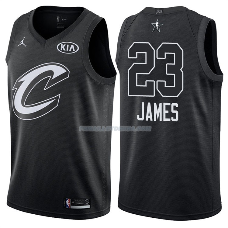 Maillot All Star 2018 Cleveland Cavaliers Lebron James 23 Noir