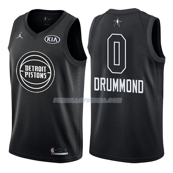 Maillot All Star 2018 Detroit Pistons Andre Drummond 0 Negro