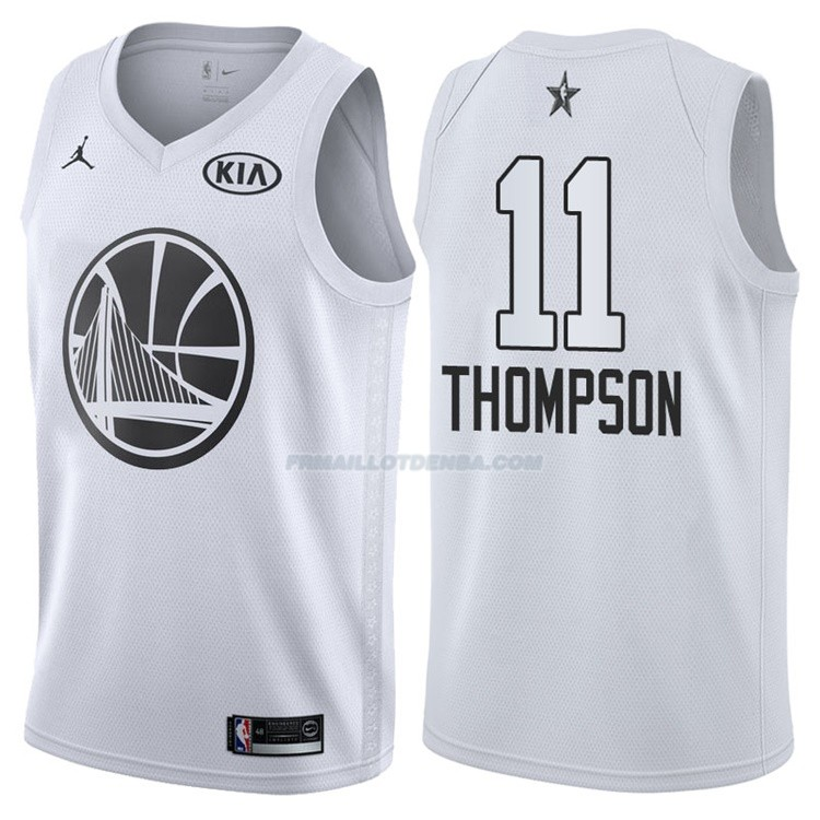 Maillot All Star 2018 Golden State Warriors Klay Thompson 11 Blanc