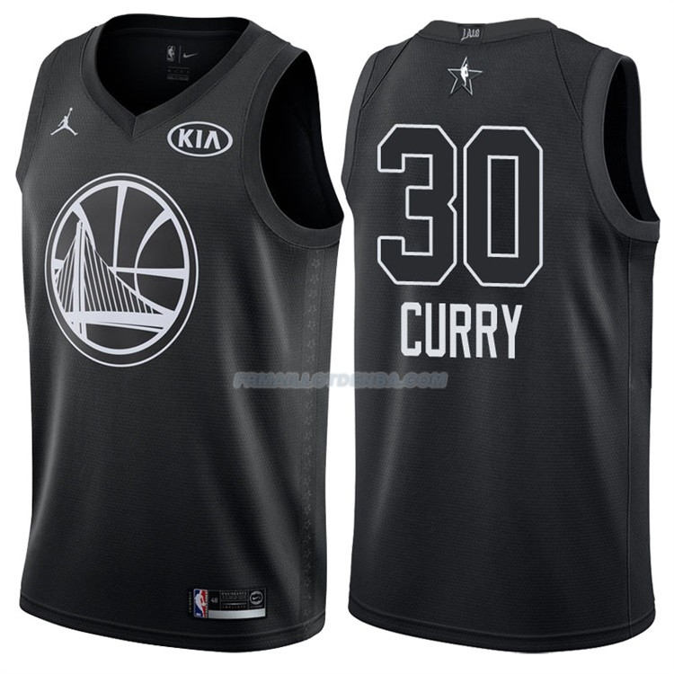 Maillot All Star 2018 Golden State Warriors Stephen Curry 30 Noir