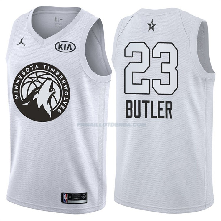 Maillot All Star 2018 Minnesota Timberwolves Jimmy Butler 23 Blanc