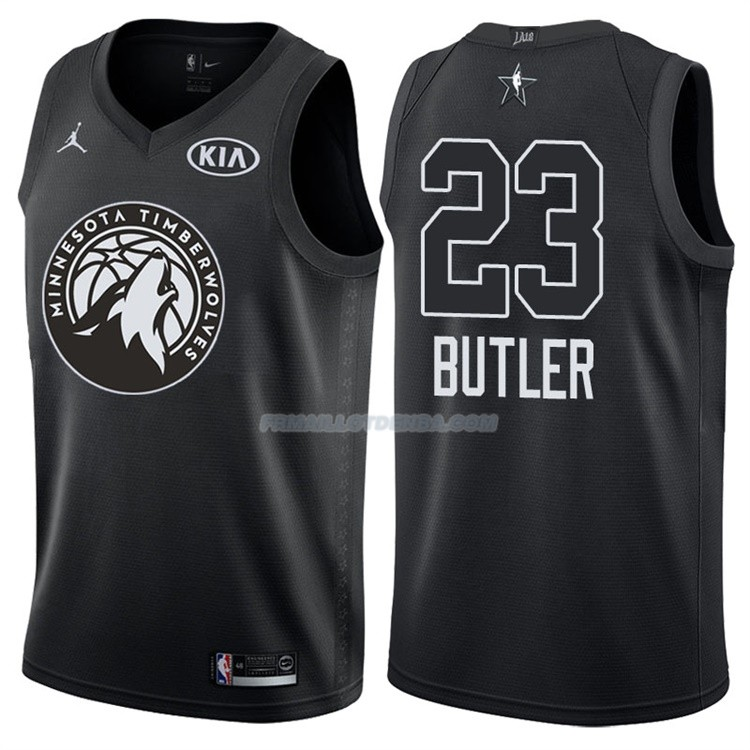 Maillot All Star 2018 Minnesota Timberwolves Jimmy Butler 23 Noir