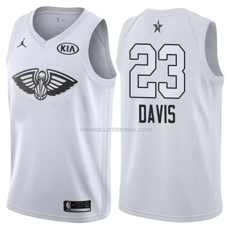 Maillot All Star 2018 New Orleans Pelicans Anthony Davis 23 Blanc