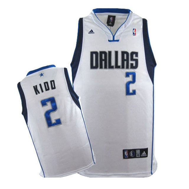 Maillot Basket Dallas Mavericks Kidd 2 Blanc