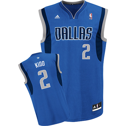 Maillot Basket Dallas Mavericks Kidd 2 Bleu