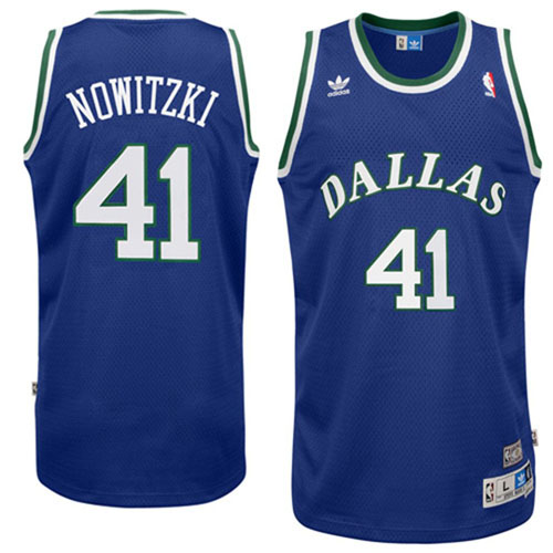 Maillot Basket Dallas Mavericks Retro 41 Nowitzki