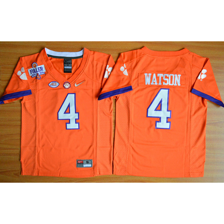 Enfants Maillot Basket NCAA Deshaun Watson 4 Orange