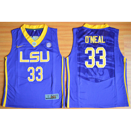 Enfants Maillot Basket NCAA Shaquille ONeal 33 Purpura