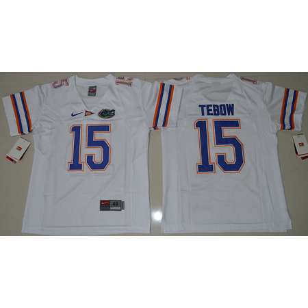 Enfants Maillot Basket NCAA Tim Tebow 15 Blanc