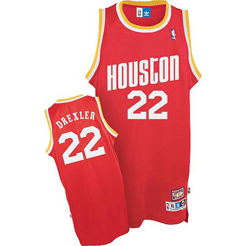 Maillot Houston Rockets Drexler 22 Rouge