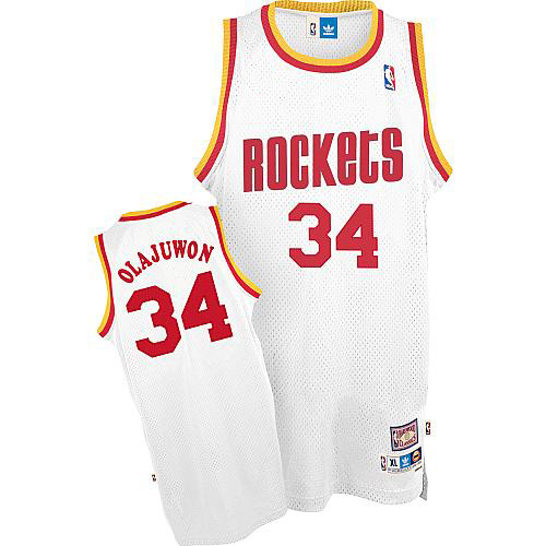 Maillot Houston Rockets Olajuwon 34 Blanc