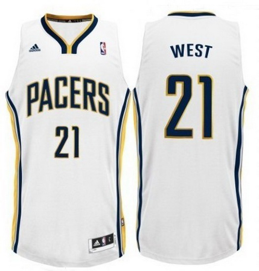 Maillot Basket Indiana Pacers West 21 Blanc