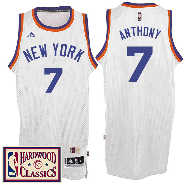 Maillot Knicks Anthony 7 Blanc