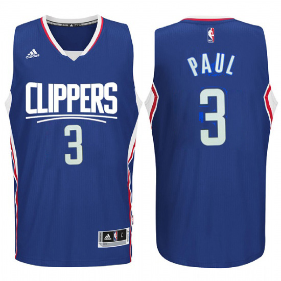 Maillot Los Angeles Clippers Paul 3 Bleu 2016