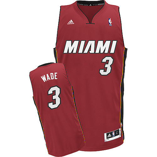 Maillot Basket Miami Heats Wade 3 Rouge 2017