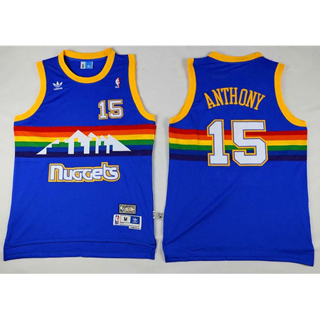Maillot Nuggets Anthony 15 Bleu