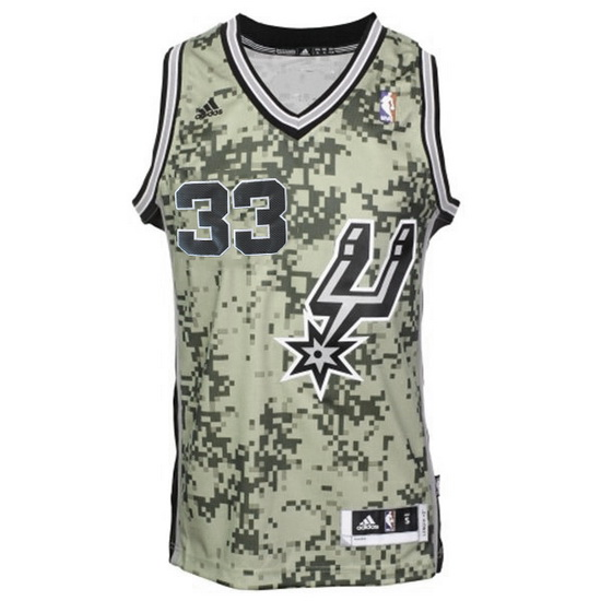 Maillot San Antonio Spurs Diaw 33 Camouflage