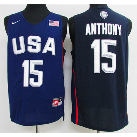 Maillot Basket USA Dream Teams Anthony 14 Bleu