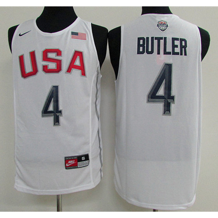 Maillot Basket USA Dream Teams Butler 4 Blanc