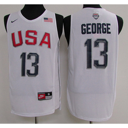 Maillot Basket USA Dream Teams George 4 Blanc