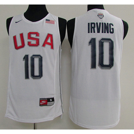 Maillot Basket USA Dream Teams Irving 4 Blanc