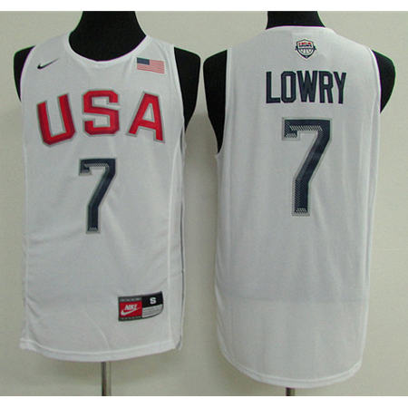 Maillot Basket USA Dream Teams Lowry 4 Blanc