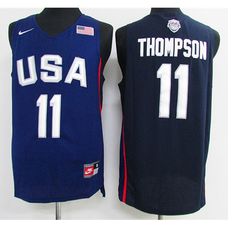 Maillot Basket USA Dream Teams Thompson 11 Bleu