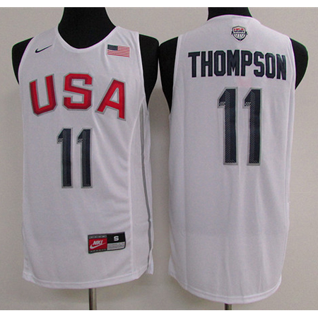 Maillot Basket USA Dream Teams Thompson 4 Blanc