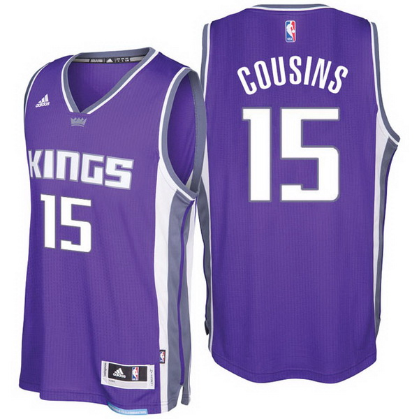 Maillot Basket Sacramento Kings Cousins 15 Purpura 2017