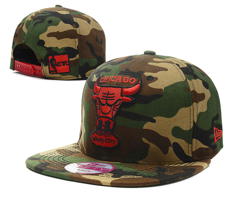 NBA Chicago Bulls Chapeau Army Green 2016